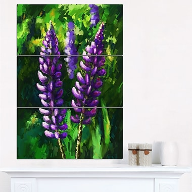 Lupin Flowers Floral Metal Wall Art
