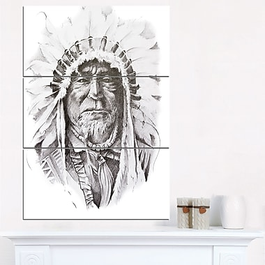 Native American Indian Portrait Metal Wall Art