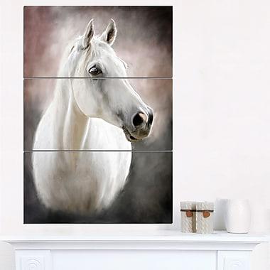 Lovely White Horse Animal Metal Wall Art
