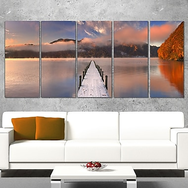 Jetty in Lake Japan Seascape Photography Metal Wall Art