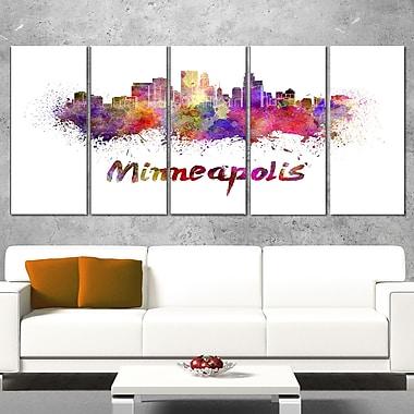 Minneapolis Skyline Cityscape Metal Wall Art