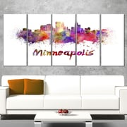 Minneapolis Skyline Cityscape Metal Wall Art