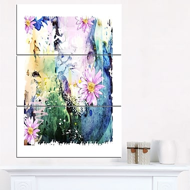 Abstract Blue Pink Floral Art