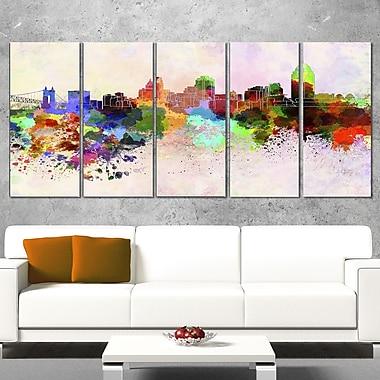 Art mural horizon de la ville de Cincinnati
