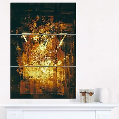 Abstract Golden Elements Abstract Metal Wall Art
