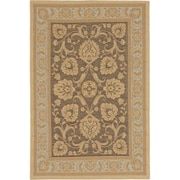 ecarpetgallery Versailles Antique Rugs, Dark Brown/Light Yellow