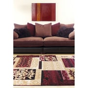 ecarpetgallery Crown Rugs, Burgundy/Ivory