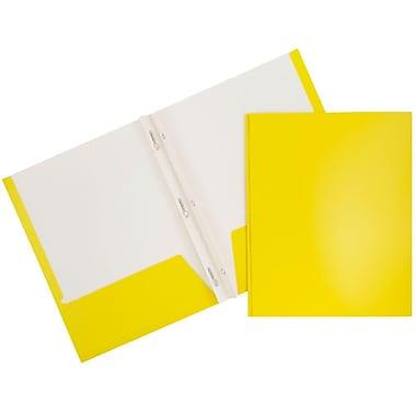 JAM PaperMD – Chemises d'école lustrées à deux pochettes avec attaches, 6/paquet