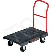 Rubbermaid – Chariot à plateforme robuste, plat. : 30 larg. x 60 long. po, poignée : 42 haut. po, capacité 1200 lb (FG446610BLA)