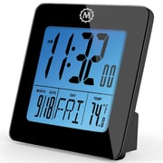 "Marathon Cl030050bk Digital Desk Clocks, 3.75"" x 3.75"" x 1.5"""