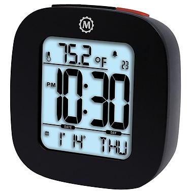 Marathon - Réveils compacts Cl030058bk avec température et date, 3 x 3 x 1 po