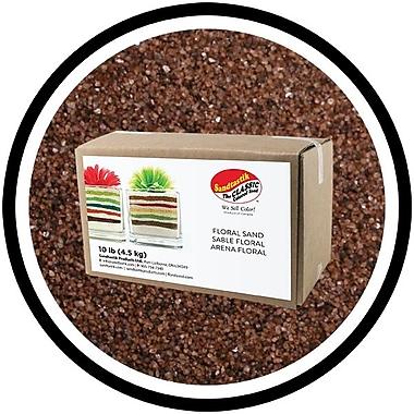 Sandtastik® Floral Coloured Sand, 10 lb (4.5 kg) Box, Baltic Brown