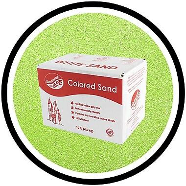 Sandtastik® Classic Coloured Sand, 10 lb (4.5 kg) Box, Fluorescent Green