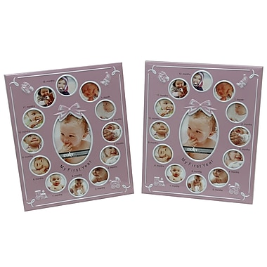 Cathay Importers My First Year Photo Frame, 2/Pack