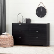South Shore – Commode double à 6 tiroirs, collection Reevo