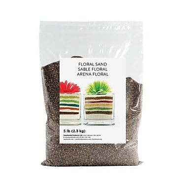 Sandtastik® Floral Coloured Sand, 5 lb (2.3 kg) Bag, Char-Et