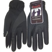 iTouch Mens Deluxe Touchscreen Gloves, Black