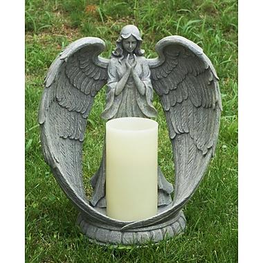Hi-Line Gift – Porte-bougie sans flamme DEL en forme d'ange, 14 po