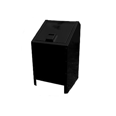 Paris Site Furnishings Metal Animal-proof Trash Can, 34-Gallon