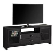 Monarch – Meuble TV I 2712 avec tiroirs et portes en verre, 60 po de long