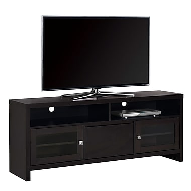 Monarch I 2708 TV Stand with Glass Doors, 60