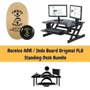 Rocelco ADR Adjustable Height Desk Riser & Indo Board Original Standing Desk Bundle