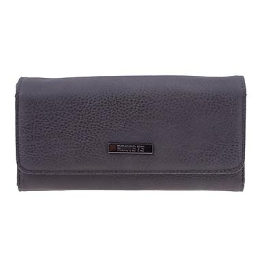 Roots – Pochette portefeuille RT23165-2 avec poche extérieure, noir/brun foncé