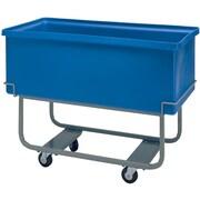 Techstar Plastics Heavy Duty Elevated Starcart, Weight Capacity: 800 Lbs., Volume Capacity: 5 Cu. Ft. (310E-BLUE)