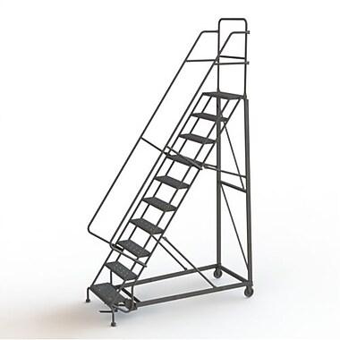 Tri-Arc Manufacturing – Escabeau roulant très robuste, hauteur : 100 po, marche dentelée, profondeur : 77 po (KDHD110242)