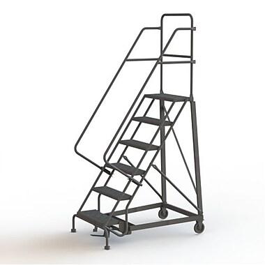 Tri-Arc Manufacturing – Escabeau roulant très robuste, hauteur : 60 po, marche dentelée, profondeur : 50 po (KDHD106242)