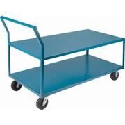 Kleton – Chariots surbaissés robustes, capacité de charge : 2400 lb, hauteur globale : 41 po, profondeur globale : 72 po