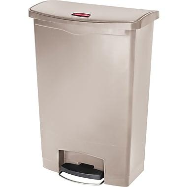 Rubbermaid Slim JimMD – Bac à ordures Step-On, en résine, pédale à l'avant, 24 gallons