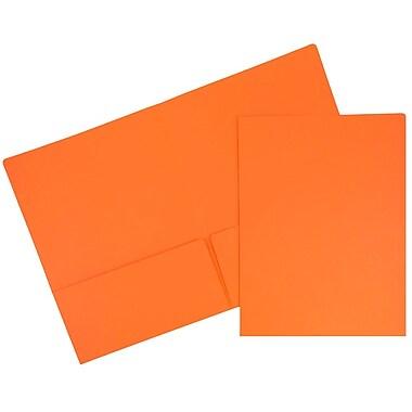 JAM PaperMD – Chemises de présentation en papier cartonné de haute qualité à deux pochettes, 100/paquet