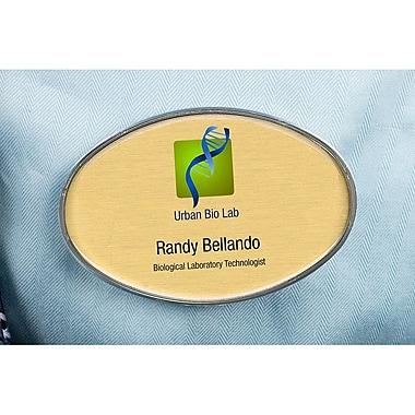 The Mighty Badge – Trousse de porte-noms pour imprimantes à jet d'encre, 2,57 po x 1,7 po, ovale, paq./10
