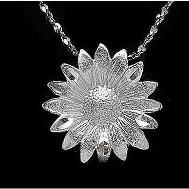 House of Jewellery – Breloque florale en argent sterling à taille de diamant (C4369)