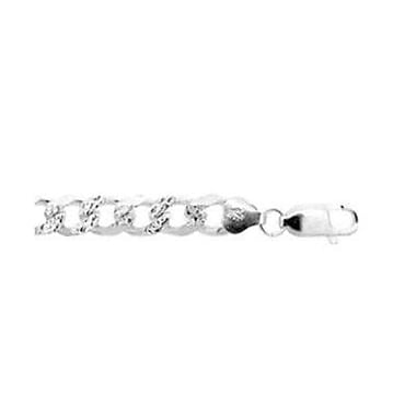 House of Jewellery 8mm Sterling Silver Curb Chain
