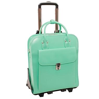 McKlein – Valise pour ordinateur portatif La Grange sur roulettes pour femme, 15,4 po, détachable, en cuir