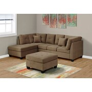Monarch Specialties Sectional Ultra Soft Velvet Sofa(I 8375LB)