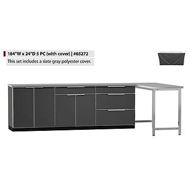 NewAge Products – Ensemble d'armoires de cuisine de 5 pièces pour l'extérieur avec housses, type B