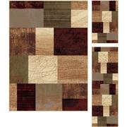 Elegance 5210 Multi Contemporary Area Rugs, 3-Piece Set