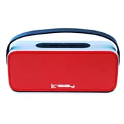 LINSAY High-End Portable Wireless Bluetooth Speaker with Microphone Rechargeable, Blue or Red
