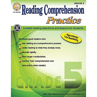 Mark Twain Media Reading Comprehension Practice Workbook