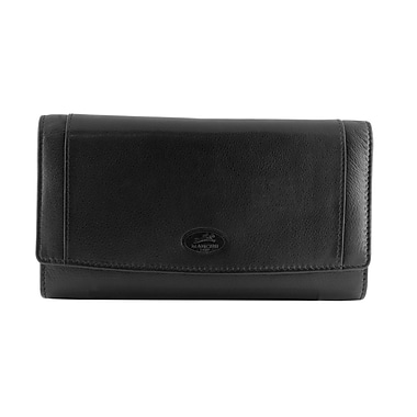 Mancini Manchester Collection Leather RFID Secure Ladies Clutch Wallets (2010122)