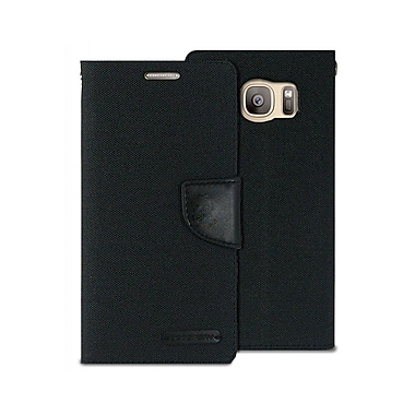 Mercury Canvas Diary Cell Phone Case for Galaxy S6 edge