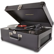 Crosley CR6249A-BK Keepsake Portable USB Turntable with Software for Ripping & Editing Audio, Black