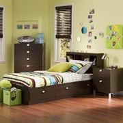 South Shore Spark Twin Storage Bed and Bookcase Headboard