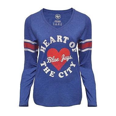 T-shirt rayé à manches longues pour femme Ladies' Knockaround 47 Club, Blues Jays de Toronto