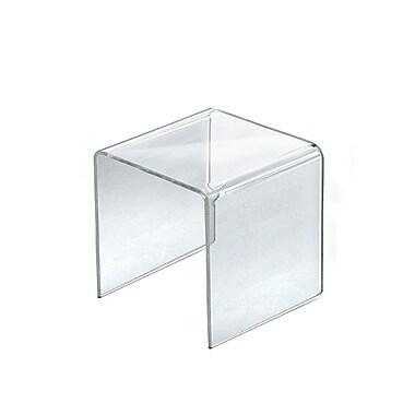 Azar Displays – Présentoir surélevé en acrylique, 4/paquet