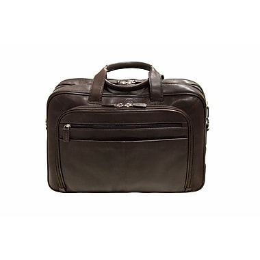 Mancini Colombian Collection Top Grain Leather Double Compartment Briefcases (98235)