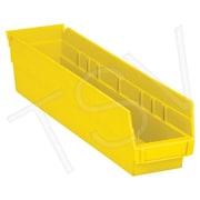 Quantum ? Bacs pour étagère de rangement, jaune, 40 lb, 36/paquet